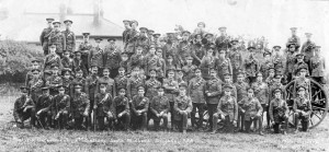 Malvern men of the South Midland Brigade photographed before leaving for a training camp in August 1914