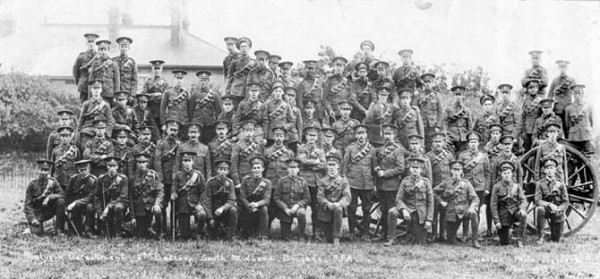 Malvern men of the South Midland Brigade (Territorials) in August 1914