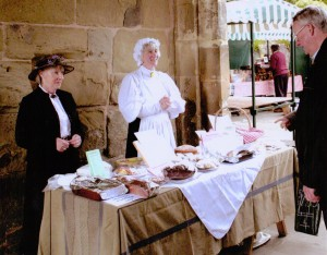 Raising money for the museum at Malvern Food Festival