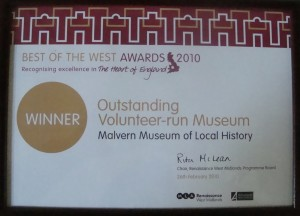 Award for best voluntary museum in West Midlands