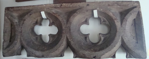 Part of the timber framed windows in the Priory's Guesten Hall