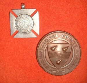 Attendance medals awarded to Malvern children at the beginning of the 20th century