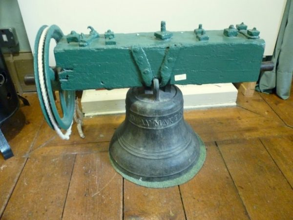 Bell dated 1748, thought to have come from the old Madresfield church and later used at Madresfield village school.