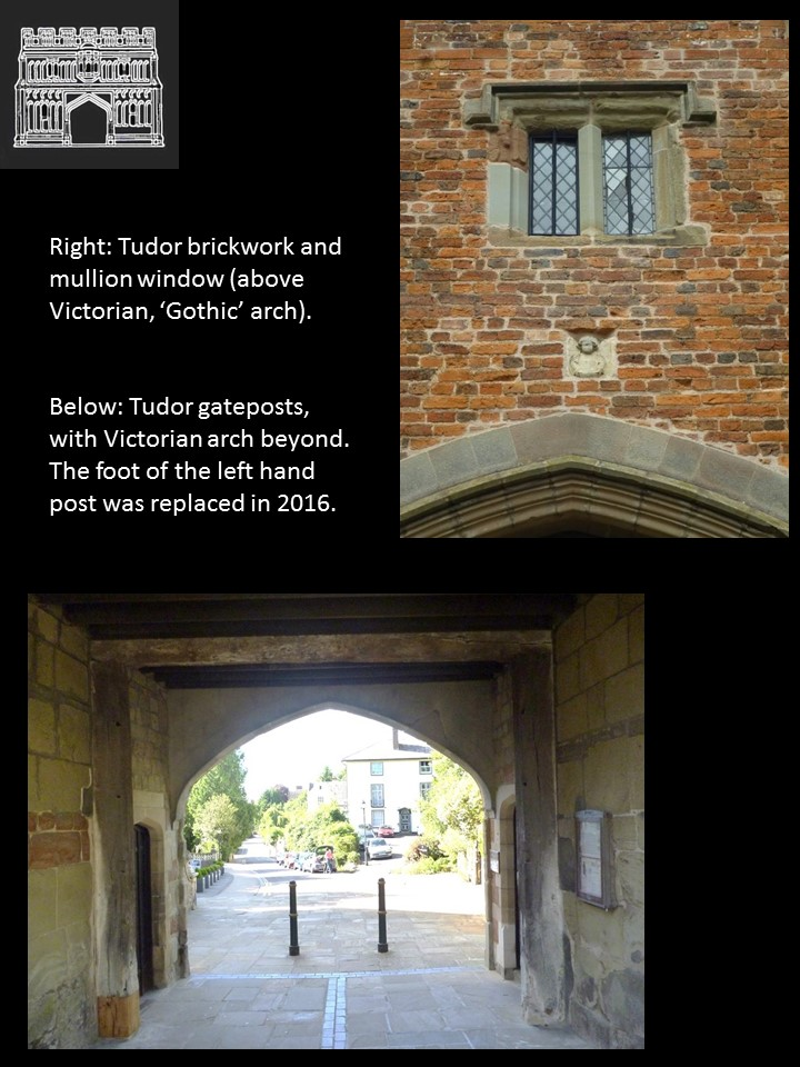 Tudor features of the Priory Gatehouse